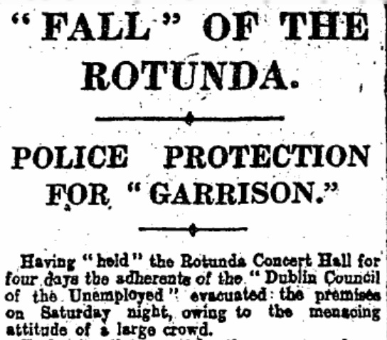 The Irish Times, page 8, January 23rd, 1922