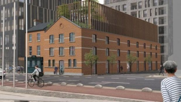 Dublin Docklands: a new hotel is planned for Castleforbes Road