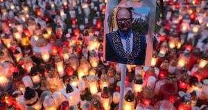 Pawel Adamowicz, the 53-year-old mayor of Gdansk, Poland, who was loved by liberals and loathed by conservatives, died on Tuesday from stabbing injuries sustained at a charity concert two days earlier. Photograph: Sean Gallup/Getty Images