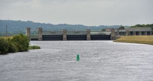 Parteen Weir on Lough Derg is part of the Shannon water system. Irish Water plans to build a 170 km long pipe from the Parteen basin on the river Shannon to Dublin. Photograph: The Irish Times