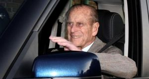 Prince Philip: in a collision near the British royal family's Sandringham estate. Photograph: Neil Hall/Reuters