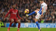 Georginio Wijnaldum could miss Liverpool's home game against Crystal Palace with a knee injury. Photograph:  Mike Hewitt/Getty Images