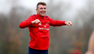 Peter O'Mahony: back in the Munster side for Exeter's visit  to Thomond Park. Photograph: Ryan Byrne/Inpho