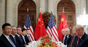 US-China trade tensions were judged to have eased on Friday. Photograph: Reuters