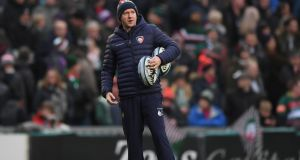 Geordan Murphy: Leicester have beaten Harlequins (35-24) and Gloucester (34-16) in their last two games since they made the Irishman full-time head coach. Photograph:  Shaun Botterill/Getty Images)
