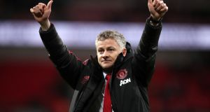 Manchester United's interim manager Ole Gunnar Solskjær. Photograph: John Walton/PA Wire