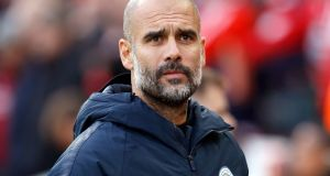 "Pep Guardiola: ""In other countries everyone [spies but] it's more difficult here."" Photograph: Martin Rickett/PA Wire"