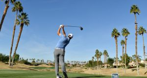 Jon Rahm of Spain drives on the sixth tee during the second round of the Desert Classic at the Nicklaus Tournament Course  in La Quinta, California. Photograph: Donald Miralle/Getty Images