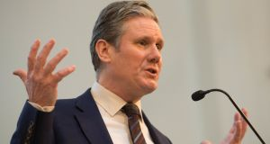 "Shadow Brexit secretary Sir Keir Starmer said  it now appeared ""inevitable"" the Government would have to apply for an extension to the Article 50 withdrawal process. Photograph: Stefan Rousseau/PA Wire"
