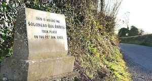 Historian and former government minister Martin Mansergh will unveil a new message board at the Soloheadbeg monument. Photograph: The Irish Times