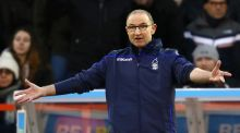 Nottinghan Forest manager Martin O'Neill reacts during the Sky Bet Championship match against  Bristol City at the City Ground  in Nottingham, England. Photograph:  Mark Thompson/Getty Images