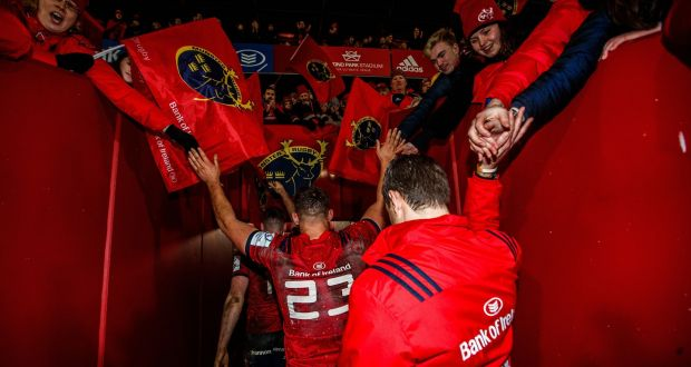 Munster head coach Johann van Graan leaves Thomond Park after his team beat Exeter. Photograph: Tommy Dickson/Inpho