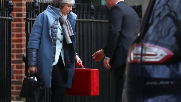 British prime minister Theresa May: due to announce on Monday how she plans to proceed with Brexit. Photograph: REUTERS/Hannah McKay