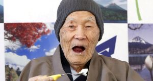 World's oldest man Masazo Nonaka  has died at the age of 113. Photograph: Kyodo/via REUTERS/File Photo