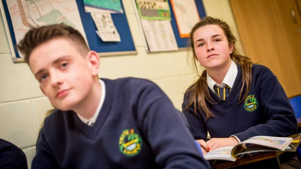 Aaron Bramwell and Maria Coyle, students in Crana College's transition year