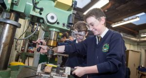 Students Christopher Doyle and Caolán Ruane take part in Crana College's transition year programme