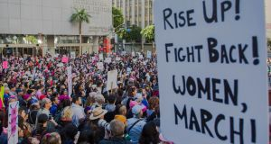 The Women's March in Los Angeles on  January 19th, 2019: the view is taking hold among defence lawyers that #MeToo is something which should be raised with a jury.  Photograph: Jessica Pons/New York Times