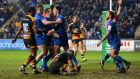 Leinster's bonus point win over Wasps secured Leo Cullen's team a home quarter-final. Photograph: Tony Marshall/Getty Images