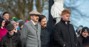 Soloheadbeg, Co Tipperary: More than a thousand people gathered at the gentle slope in front of Solohead Church on Sunday to commemorate an ambush carried out there exactly 100 years before. Photograph: John D Kelly