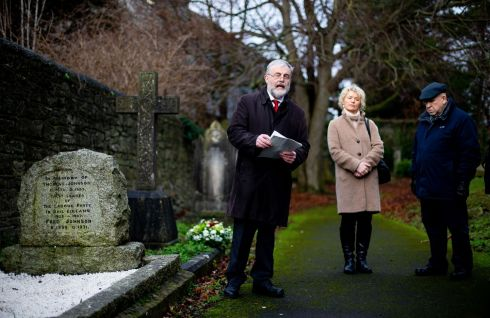 SETTING THE AGENDA: Labour Party chairman Jack O'Connor gives the annual Tom Johnson graveside oration at Clontarf cemetery. Johnson, a former party leader, wrote the Democratic Programme of the first Dáil in 1919. Photograph: Tom Honan for The Irish Times