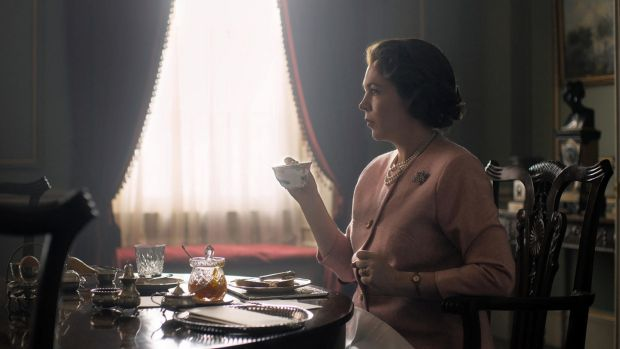 Olivia Colman as Queen Elizabeth II in the hit Netflix drama. Photograph: Netflix/PA Wire