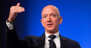 Amazon founder Jeff Bezos is  rated as the world's wealthiest person. Photograph:  Jim Watson/AFP