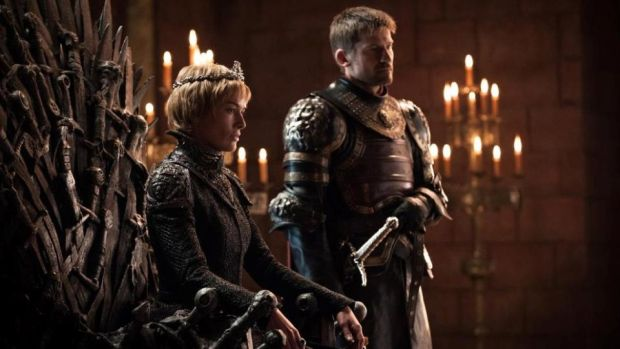 Game of Thrones: Nikolaj Coster-Waldau as Jaime Lannister and Lena Headey as Cersei Lannister. Photograph: Helen Sloan/HBO