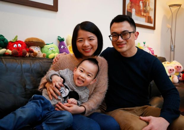 Ray Chen: 'We were so young, I was 23 and she was 24, and we didn't know how to look after a child. I was so panicked, I said maybe it's a good idea that we go back to China so our parents can look after our child' Photograph: Nick Bradshaw/The Irish Times