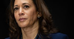 "Kamala Harris, a Democrat from California and member of the Senate Judiciary Committee: ""The future of our country depends on you and millions of others lifting our voices to fight for our American values."" Photograph: Saul Loeb/AFP/Getty Images"