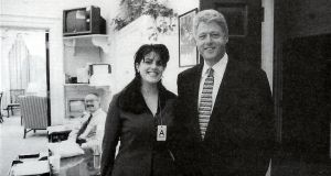 An official photo shows President Clinton and intern Monica Lewinsky at the White House on November 17th, 1995