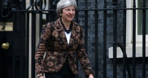 British prime minister Theresa May will make a statement on Monday afternoon outlining her new Brexit proposals. Photograph: PA