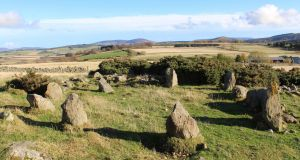 The stone circle in the parish of Leochel-Cushnie, Aberdeenshire, Scotland. Photograph: Aberdeenshire Council/PA Wire