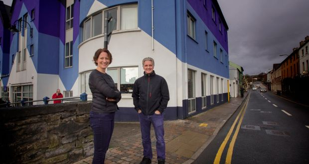 Sabine Walsh and Noel Mulkeen at the Build Block business centre in Sligo. Photograph: Brian Farrell