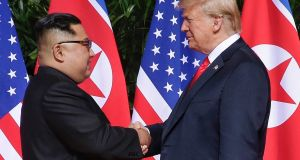 Discovery has called into question North Korea's intentions as officials met in Sweden this week to discuss  arrangements for Kim Jong-un's second meeting with Donald Trump, which is expected to take place near the end of February. Photograph: Kevin Lim/EPA
