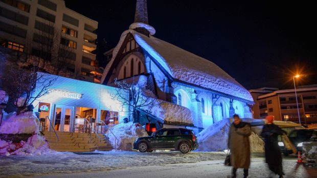 The English Church in Davos. Photograph: Fabrice Coffrini/AFP