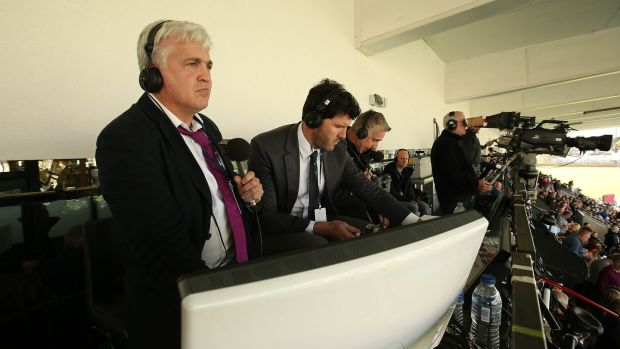 Stuart Barnes commentating on a Pro 12 game between Glasgow and Leinster back in 2014 alomngside Shane Horgan and Shane Horgan and Miles Harrison. Photograph: Billy Stickland
