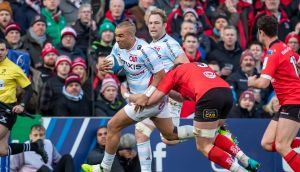 Simon Zebo in action during the Champions Cup game against Ulster at the Kingspan Stadium. Photograph: Morgan Treacy/Inpho