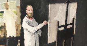 Brian John Spencer self-portrait, in the style of Sir John Lavery
