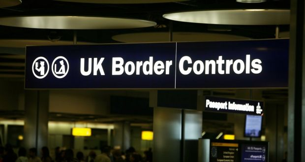 Border control at London's Heathrow Airport. The Border with the North is real, and hard, because it runs through the minds of the inhabitants of this island. File photograph: Steve Parsons/PA Wire