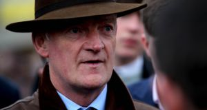 Willie Mullins: Patricks Park was first reserve and got into the race when his  stable companion, Ballycasey, was declared a non-runner less than two hours before the Galway Plate began. Photograph: Ryan Byrne/Inpho