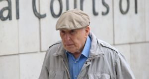 Michael Shine (86) of Ballsbridge, Dublin has pleaded not guilty at Dublin Circuit Criminal Court to 13 charges of indecent assault allegedly committed during medical examinations. Photograph:  Collins Courts