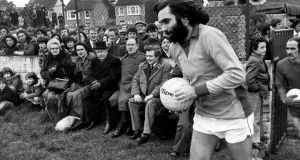George Best turning out for Cork Celtic at Turner's Cross for their game against Bohemians in January 1976. Photo: Irish Examiner archive