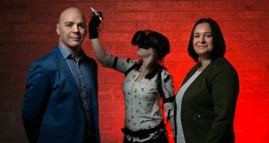 "VR Education CEO David Whelan  and COO Sandra Whelan. The firm reported revenue that was ""comfortably"" above expectations. Photograph: Shane O'Neill/SON Photographic"