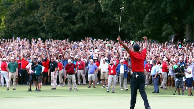 Woods won for the first time since 2013 at last year's Tour Championship. Photo: Tim Bradbury/Getty Images