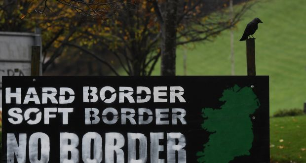 A sign in Derry calling for no border in Ireland . File photograph:  Charles McQuillan/Getty Images