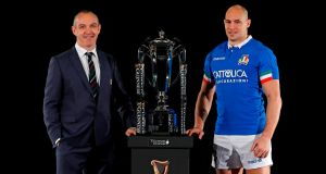 taly head coach Conor O'Shea is unconcerned about rumours around him potentially losing his job. Photo: Adrian Dennis/Getty Images