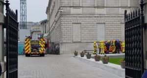 The National Gallery of Ireland in Dublin was evacuated on Wednesday after a fire broke out.