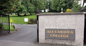 Alexandra College, which is located in Milltown in south Dublin, has taken issue with elements of the MetroLink plan. File photograph: Eric Luke/The Irish Times.