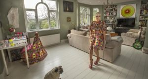 Helen Steele, artist and fashion designer, at home in  Co Monaghan. Photograph: Dara Mac Donaill