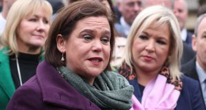 Sinn Féin leader Mary Lou McDonald: drew fallacious comparisons between deprivation in 1919 and the problems facing the State today. Photograph: Niall Carson/PA Wire